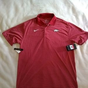 NWT Nike Arkansas Razorbacks polo